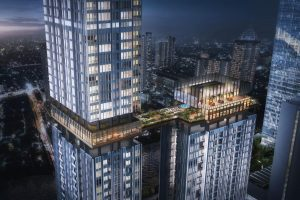Topping Off Apartemen Fifty Seven Promenade